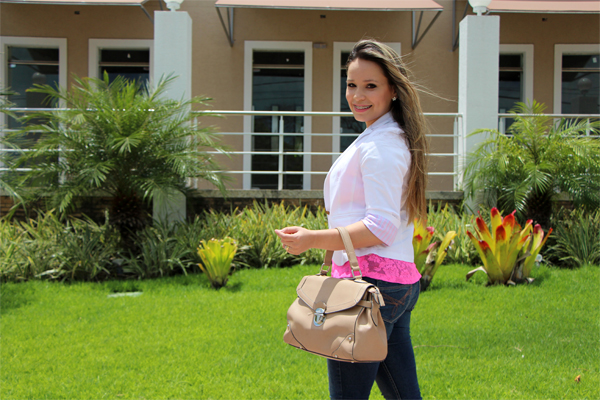 Look do dia Blazer Branco