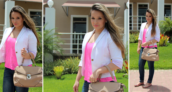 Look do dia blusa neon